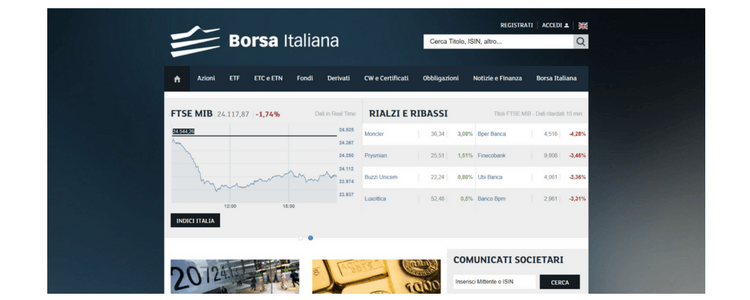 borsa italiana homepage