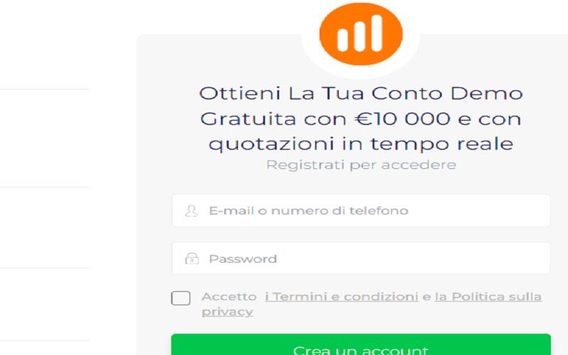 iq option conto demo app