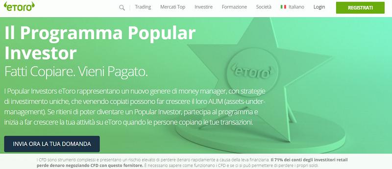social trading popular investor